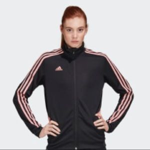 Adidas tracksuit set with pink stripe